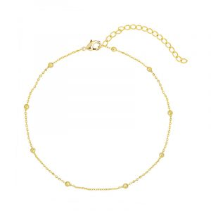 Anklet tiny beads gold