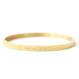 Bangle you are one in a million gold