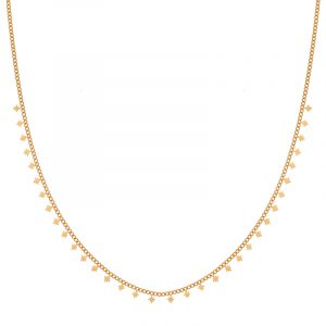 Necklace tiny Northstars gold