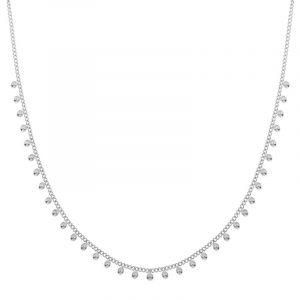 Necklace tiny dots silver