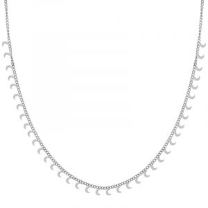 Necklace tiny moons silver