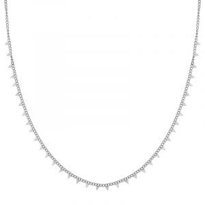 Necklace tiny triangles silver