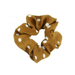 Scrunchie dots orange
