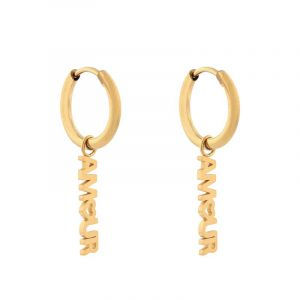 Earrings minimalistic amour gold