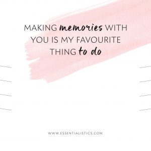 Jewellery card - Making memories with you is my favourite thing to do