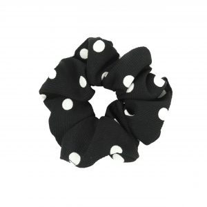 Scrunchie dots black