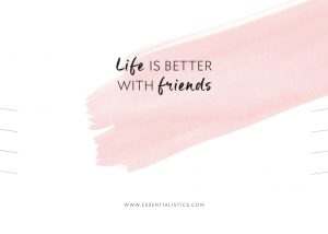 Necklace card - Life is better with friends