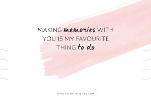 Necklace card - Making memories with you is my favourite thing to do