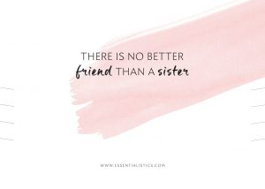 Necklace card - There is no better friend than a sister