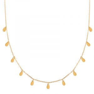 Necklace a lot of drops gold