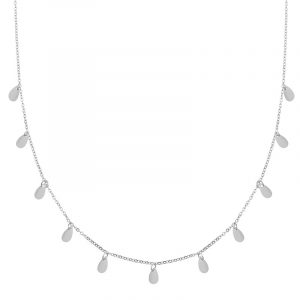 Necklace a lot of drops silver