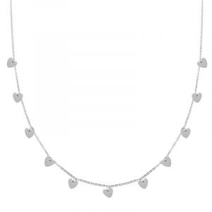 Necklace a lot of hearts silver