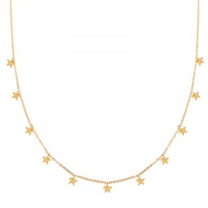 Necklace a lot of stars gold