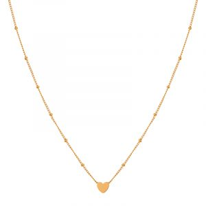 Necklace closed heart gold